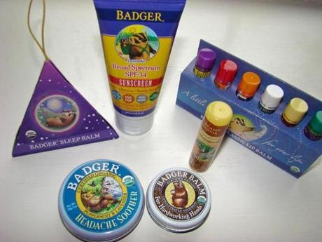 New Hampshire-made Badger products, including their cult favorite balm, are made with organic ingredients like olive oil.