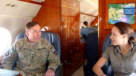 Administration and congressional sources told the New York Times the woman with whom he was having the affair was Paula Broadwell (right), the author of a biography of Petraeus.