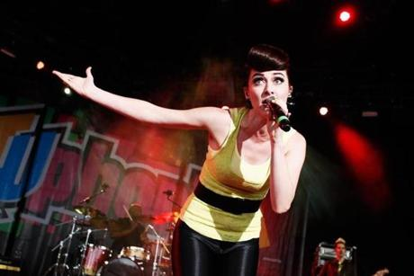 Amy Heidemann of Karmin.