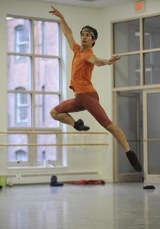 Principal dancer Nelson Madrigal rehearse on June 5.