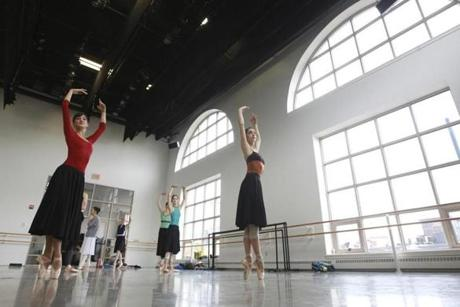 Boston Ballet dancers Emily Mistretta (left) and Brittany Summer rehearsed on November 8 for a new Nutcraker production debuting this season.
