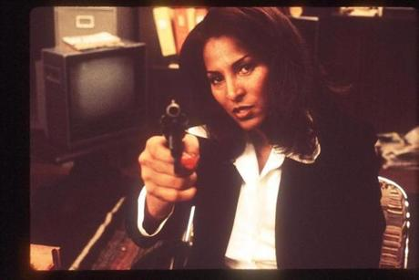 """Jackie Brown"" (1997), starring Pam Grier (left), is based on Elmore Leonard's ""Rum Punch."""
