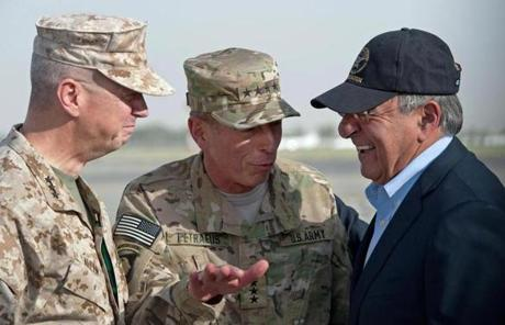 Secretary of Defense Leon Panetta  (right), with Allen (left) and Petraeus (center) in 2011, has indicated he will not stay for Obama's second term.