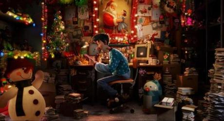 "Arthur (voiced by James McAvoy) in ""Arthur Christmas."""