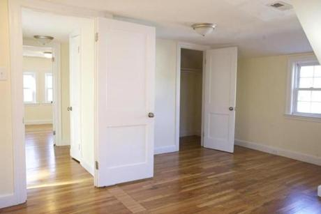 All three bedrooms have good closet space.