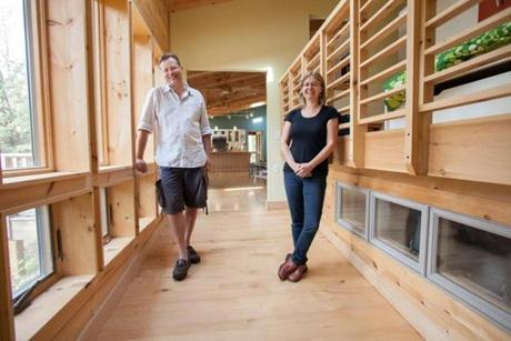 Home owners Kristin Miller and Joseph Lynch recently renovated their vacation home in the Berkshires to accommodate any disabilities they may have when they age.