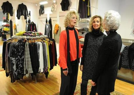 Sisters (from left) Marie Whiting, Jayne Siever, and Joyce Whiting in the store.