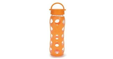 PLYMOUTH: Lifefactory glass water bottle with silicone sleeve,$25 at Common Sense Wholesome Food Market, 53 Main Street, 508-732-0427, commonsensemarket.com