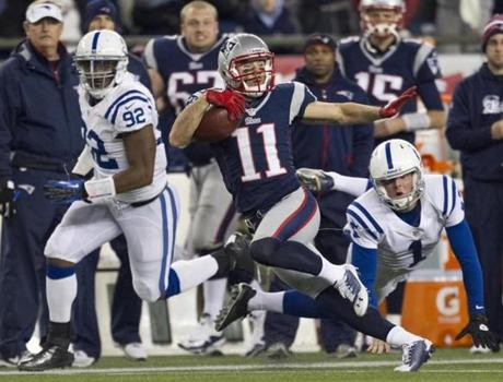 Edelman returned this punt 68 yards for a touchdown during the second quarter.
