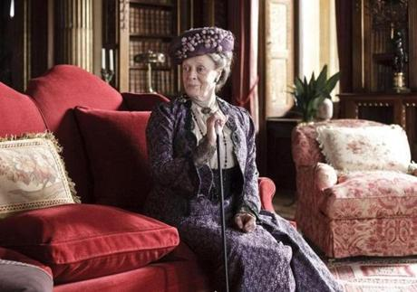 "Maggie Smith plays Violet, dowager countess of Grantham, on ""Downton Abbey."" Some fans downloaded the new season as it aired in Britain, before its US premiere."