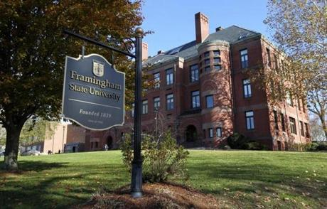 The campus of Framingham State University.