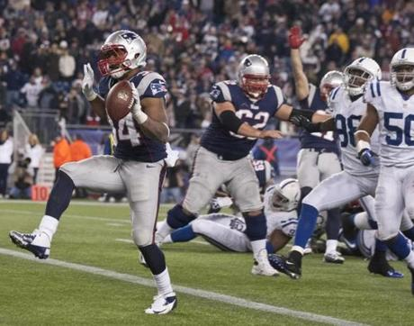 Patriots running back Shane Vereen capped the scoring with a 4-yard run in the fourth quarter.