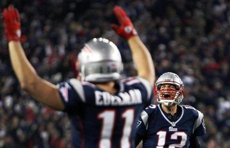 Brady ended up with 331 yards passing and three touchdown tosses.