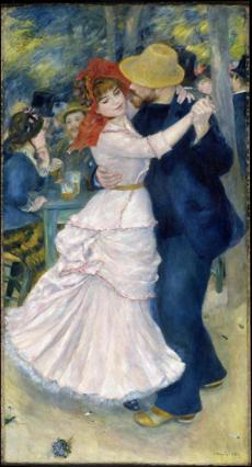 Dance at Bougival, 1883 Pierre Auguste Renoir, French, 1841 - 1919 Oil on canvas, 71 5/8 x 38 5/8 inches (181.8 x 98.1 cm) *Museum of Fine Arts, Boston. Picture Fund, 37.375 *Photograph © Museum of Fine Arts, Boston 25missing