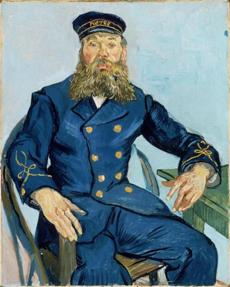 Postman Joseph Roulin, 1888 Vincent van Gogh, Dutch (worked in France), 1853-1890 Oil on canvas *Museum of Fine Arts, Boston. Gift of Robert Treat 25missing