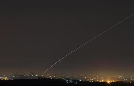 A rocket was launched from Gaza toward Israel Tuesday night.
