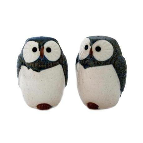 Owlet salt and pepper shakers, $25 per pair at Abodeon, 1731 Massachusetts Avenue, Cambridge, 617-497-0137, abodeon.com