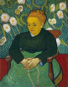Lullaby: Madame Augustine Roulin Rocking a Cradle (La Berceuse), 1889 Vincent van Gogh (Dutch (worked in France), 1853-1890) Oil on canvas *Museum of Fine Arts, Boston. Bequest of John T. Spaulding *Photograph © Museum of Fine Arts, Boston 25missing