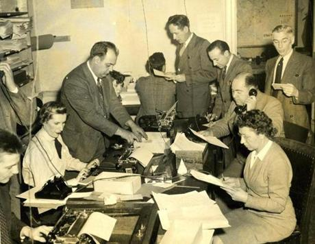 December 3, 1942 / Workers at the the Commission on Public Safety at 9 Park Street catalogued the dead. Commission staff and over 200 volunteers aided in operating the information service and the file for civilian identification.The dead were divided into three groups - Army, Navy and civilians. The Army victims were taken to Fort Banks, Winthrop; the Navy to the Marine Hospital in Brighton and to the Chelsea Naval Hospital, and civilians to the local morgues, the Southern Mortuary on Albany Street and the Northern Mortuary on North Grove Street. All of the 500 dead were identified 89 hours and 40 minutes after the alarm was sounded at 10:20 on Saturday, November 28th.