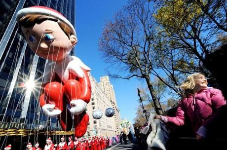 The Elf on the Shelf balloon was a new addition to this year's parade.