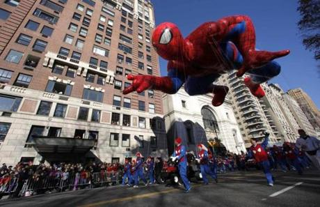 Spiderman made his way down the parade route.