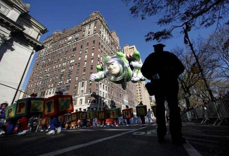 Buzz Lightyear was one of many giant balloons at the parade.
