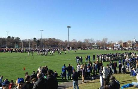 Needham beat Wellesley, 39-21, in Needham on Thursday, the 125th meeting between the two schools.