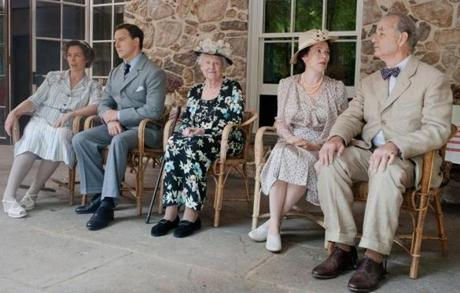 "From left: Olivia Williams, Samuel West, Elizabeth Wilson, Olivia Colman, and Bill Murray in ""Hyde Park on Hudson."""