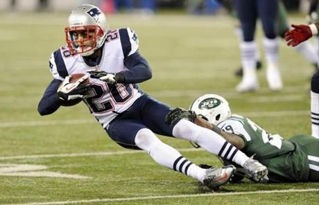 Patriots strong safety Steve Gregory intercepted a pass and had two fumble recoveries in the first half.