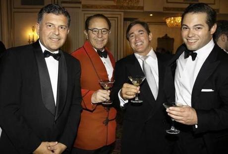 From left: Stacy Aliapoulios and Nicholas Lazares, both of Milton, Pierpaolo Perugino of Switzerland, and Nick Lazares of Milton.