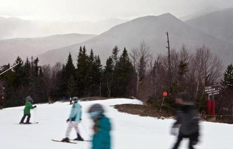 Snowboarders and skiers took on Exodus run at Loon Mountain on Saturday in Lincoln, N.H.