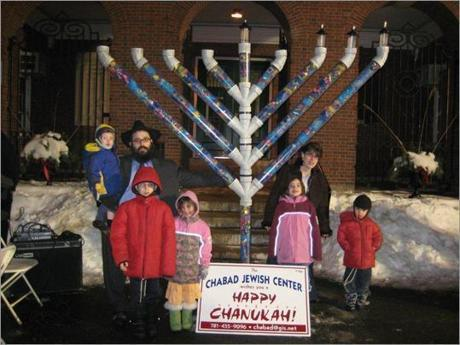 In 2008, the menorah doubled as a memorial, built from toys donated for the children of victims of the Mumbai terror attacks.