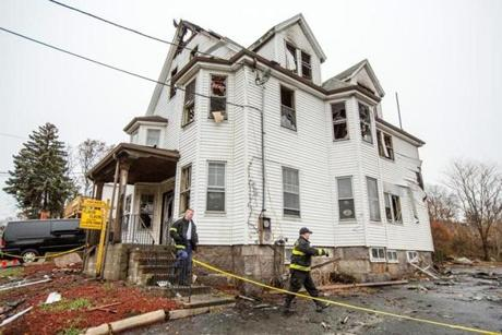 Authorities determined the fire at 488 Quincy Ave. in Quincy had been started deliberately in the rear stairwell at about 1:30 a.m.