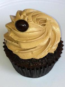Chocolate cupcake with espresso buttercream at Vanilla Pastry Studio.