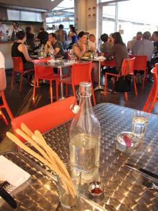 Dinette in East Liberty serves pizza in a stylish setting.