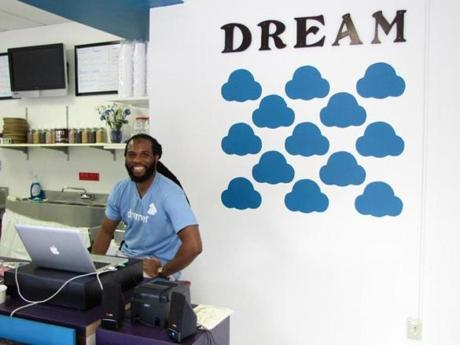 Thomas Jamison and his partner Alecia Shipman opened Dream Cream Ice Cream in Pittsburgh's Cultural District as part of a city-sponsored Pop-Up Project.