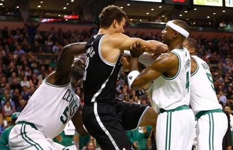 Celtics coach Doc Rivers was upset with the combined effect of the fight and the loss.