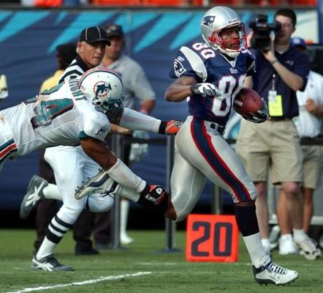 Brown took Tom Brady's pass 82-yard for the winning score.