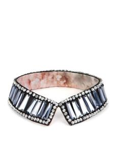 Ellaa crystal paneled collar by Ted Baker London, $99 at Ted Baker London, 201 Newbury St., 617-450-8339, www.tedbaker.com