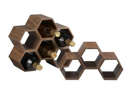 Hexa stacking wine rack, $24.95 at Crate and Barrel, 777 Boylston St., 617-262-8700, and Boston-area locations, www.crateand barrel.com.