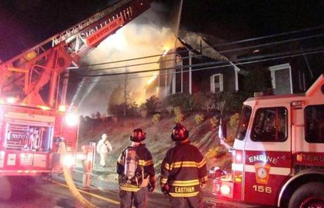 A three-alarm fire destroyed the Cape Cod Bible Alliance Church early this morning.
