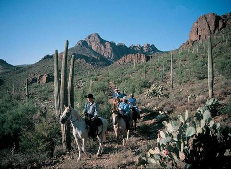 Sightseeing on horseback affords a different view of Arizona.