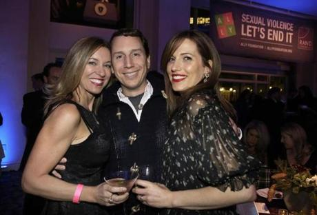 Leah Talanian (left) and Michael Spack, both of Boston, and Carrie Raho of Bedford.