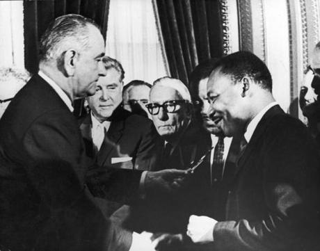 Martin Luther King Jr. and President Johnson caused a social shift.