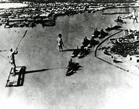 Undated: This picture released by the US Navy shows a Japanese mock-up used to plan the attack on Pearl Harbor. Adm. Isoruku Yamamoto, Japanese naval attache in Washington, conceived the plan for the attack on Pearl Harbor in January 1941. The Japanese War College worked out the attack from this model, and in September 1941, Japanese carriers and their planes practiced bombing on an obscure island of Japan. Yamamoto had special fins placed on torpedos for the shallow waters of Pearl Harbor. December 7 was picked for the attack because Yamamoto knew naval commander Adm. Husband E. Kimmel kept his ships in Pearl Harbor on weekends.
