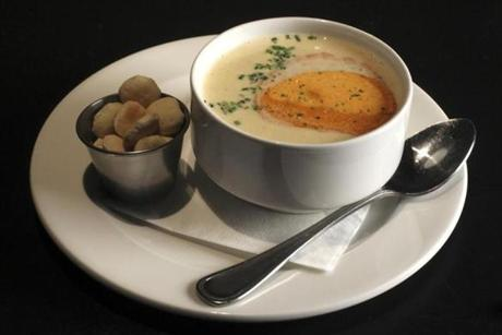 The clam chowder.