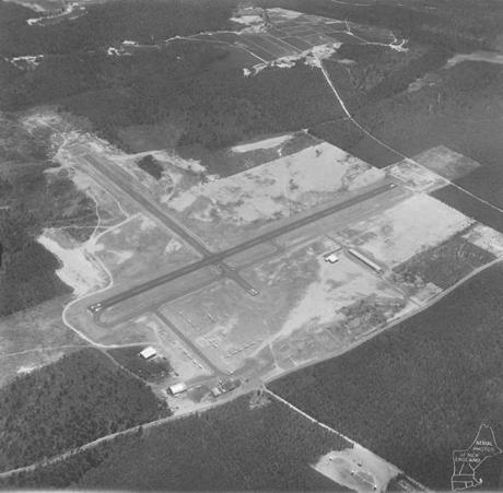 Looking South over Plymouth Airport in April, 1968.