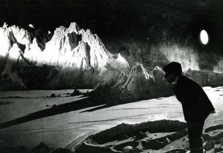October 26, 1967:  A young visitor to the Museum of Science studied the 40-foot mural of the moon painted by Chesley Bonestell, architect, astronomer and recognized as the country's leading space theme illustrator. It would be nearly two more years before Neil Armstrong would become the first human to step onto the surface of the actual moon on July 21 1969.