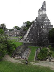 Main plaza in Tikal National Park.