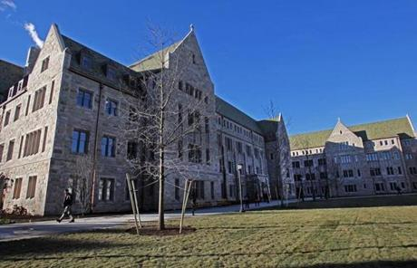 For the first time in 45 years, Boston College will soon open a new academic facility on the main part of its Chestnut Hill campus.